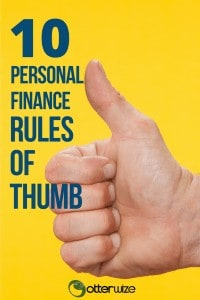10 personal finance rules of thumb