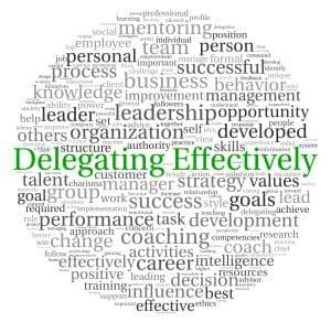 Delegating at work in word tag cloud
